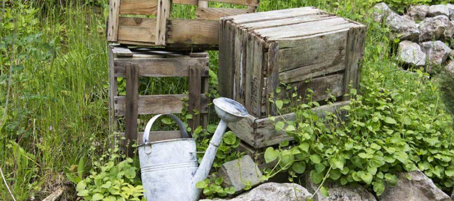 Holzkisten für den Garten