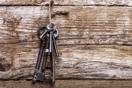 Schönes Schlüsselbrett aus Holz