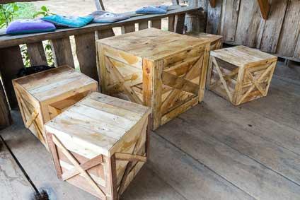 Tisch aus Apfelkisten Traumhaft