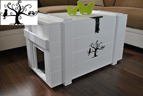 frachtkiste als katzentoilette. Black Bedroom Furniture Sets. Home Design Ideas