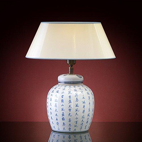 Vasenlampe mit Schrift