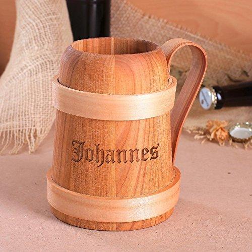 Holzbierkrug mit Namen