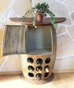 Wandtisch aus Weinfass