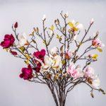 Set 2 x Kunstblume Magnolienzweig