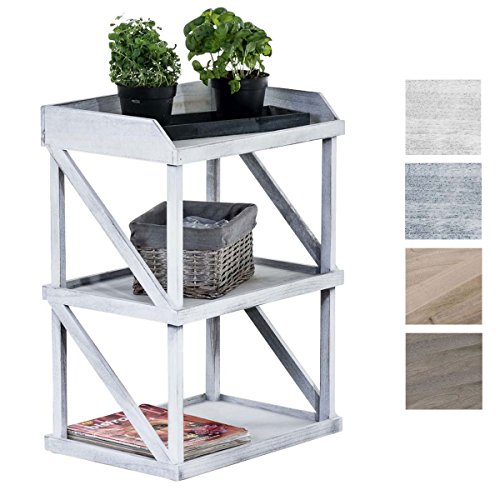 holz regal 3 b den antik wei. Black Bedroom Furniture Sets. Home Design Ideas
