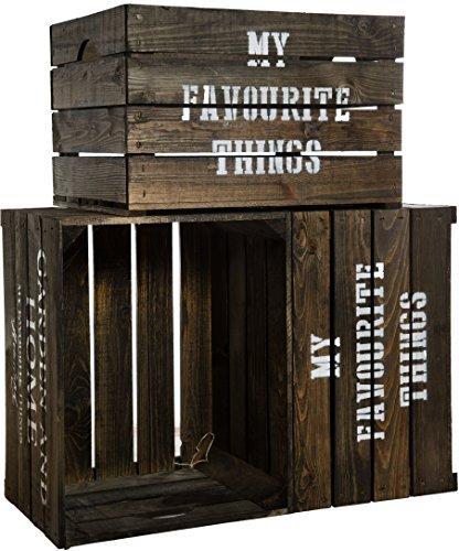 3er Set Massive Holzkiste Für Den Garten