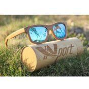 Bambus-Sonnenbrille Vintage