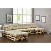 Paletten Möbel -Sofa mit Palettenkissen