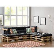 Euro Paletten-Sofa mit Kissen
