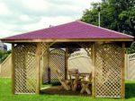 Gartenpavillon aus Holz edel