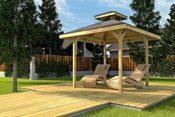 Gartenpavillon aus Holz
